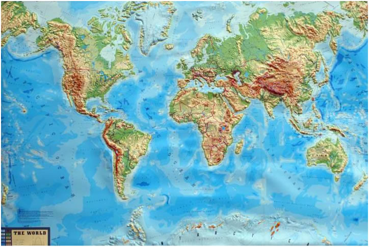 Landscape As Foundation The Most Exposed Terrain On Earth - Earth terrain map