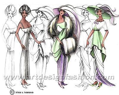 Ideal forms of Art Nouveau fashion