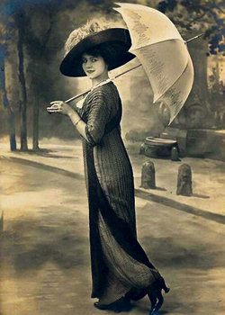 Russian Art Nouveau fashion, 1916