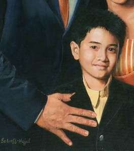 Detail of Edwin Ermita and Two of His Children, by Anne Bobroff-Hajal