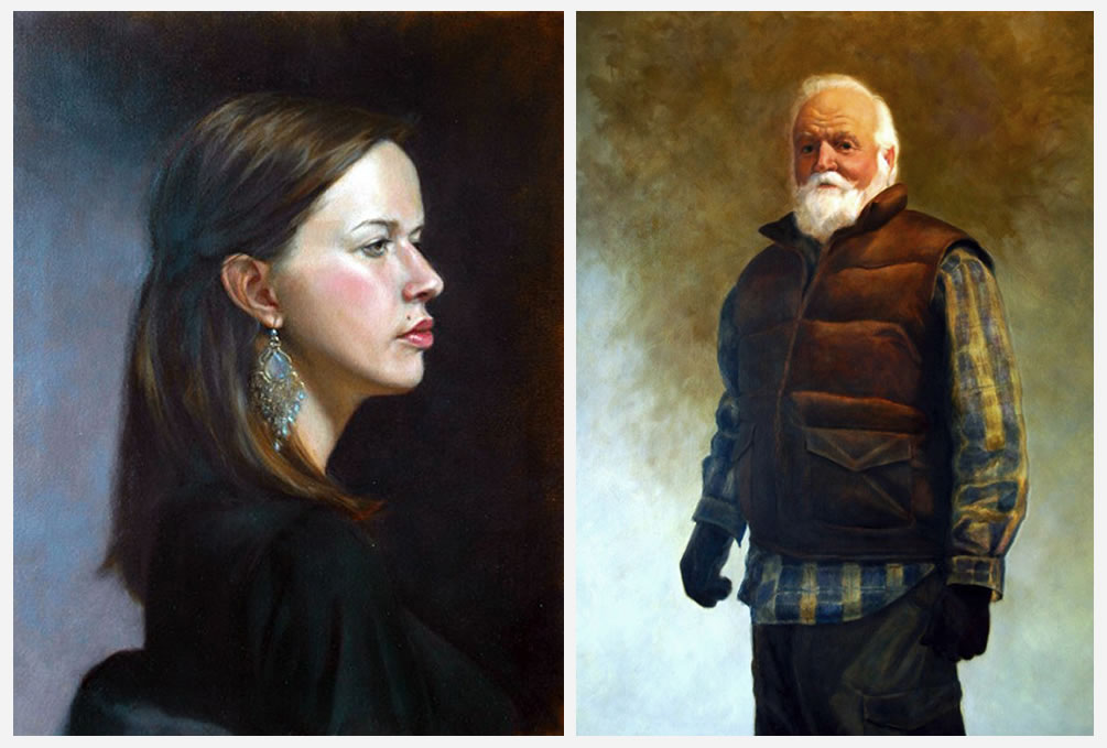 Maia (left) and Outdoorsman (right), by Nicole Moné