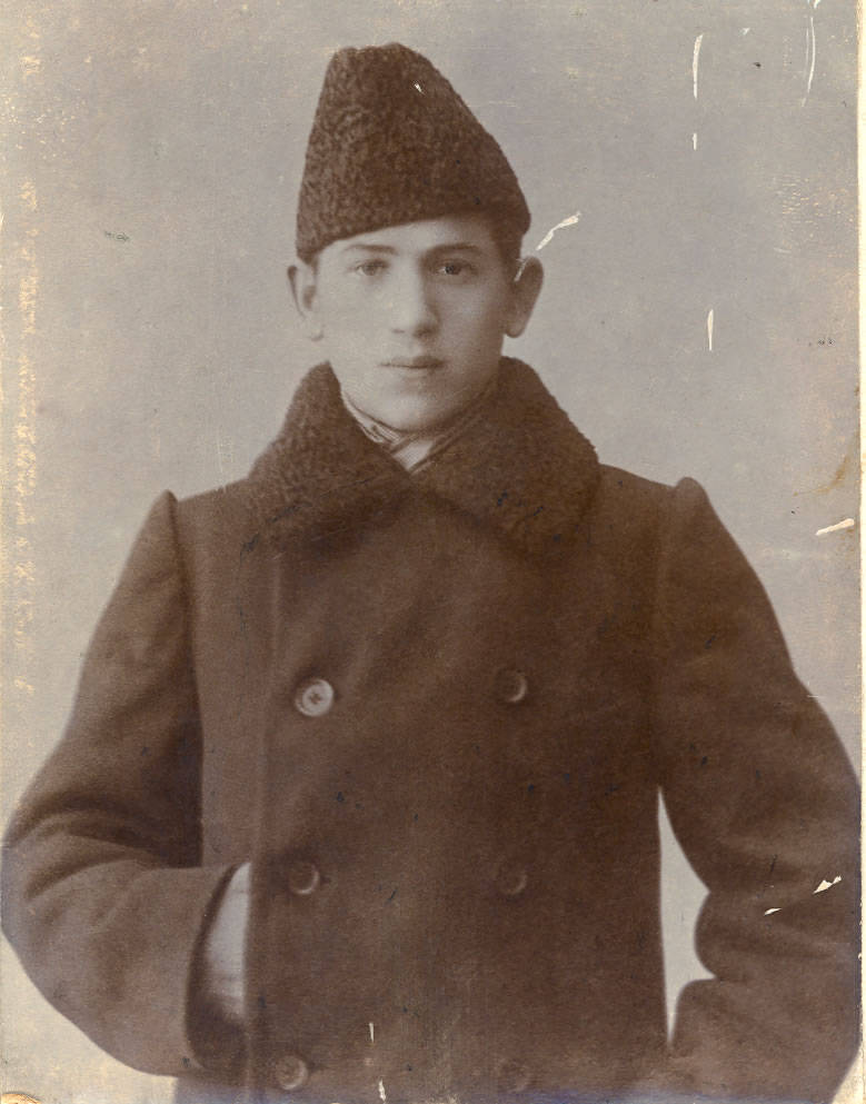 Photo of my grandfather, Boris L. Bobrov, taken in Mogilev in the early 20th century