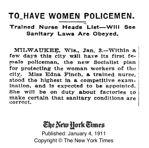 1911 New York Times announcement
