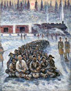"""Moving Out,"" by Getman, who was himself a prisoner in Stalin's labor camps"