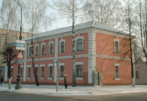 "Borisov's ""public security"" building, called ""the beginning of the road to the Gulag"" by Rosenblyum.  Victims arrested on fabricated charged were brought to the basement: ""At night, in this evil building, electricity was always burning"