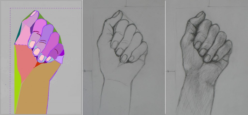 Relaxed Hand Drawing Middle Line Drawing From Part