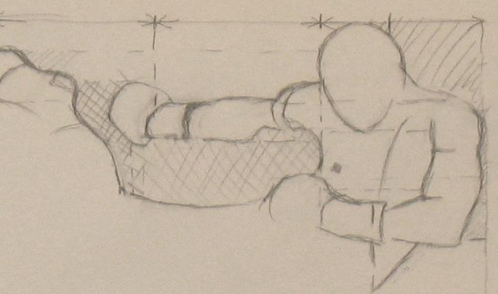 Negative spaces in KickBoxer sketch
